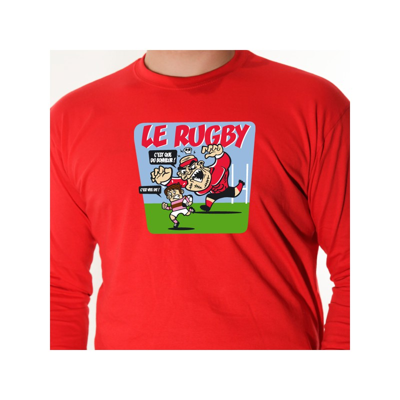 t shirt rugby le rugby c 39 est du bonheur avomarks. Black Bedroom Furniture Sets. Home Design Ideas