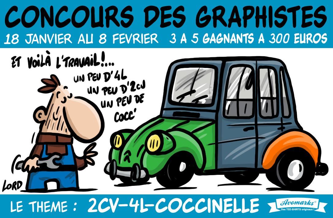 concours t shirt 4L-2CV-Cocc