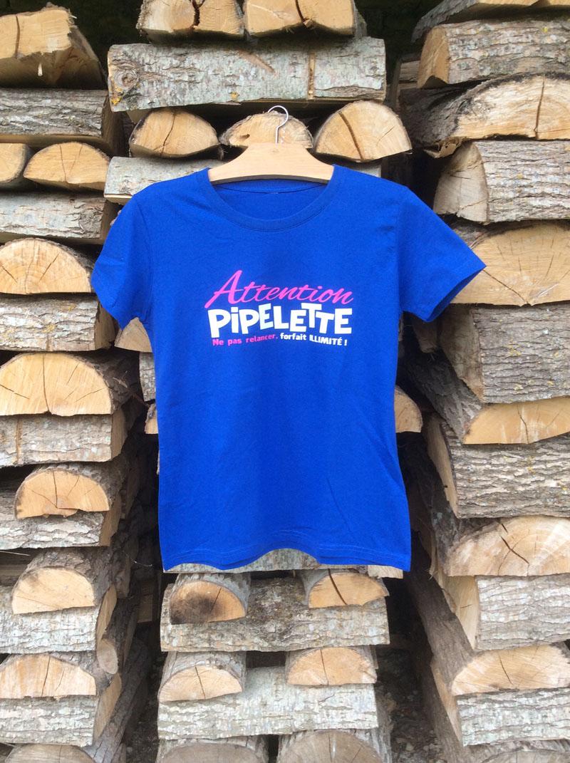 t-shirt- attention Pipelette bûches
