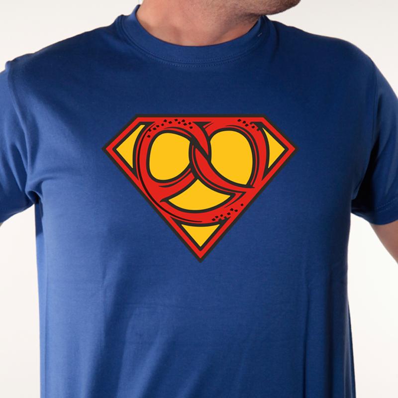 t-shirt super héros-SUPERBRETZEL