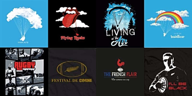 résultat concours t-shirts rugby parapente