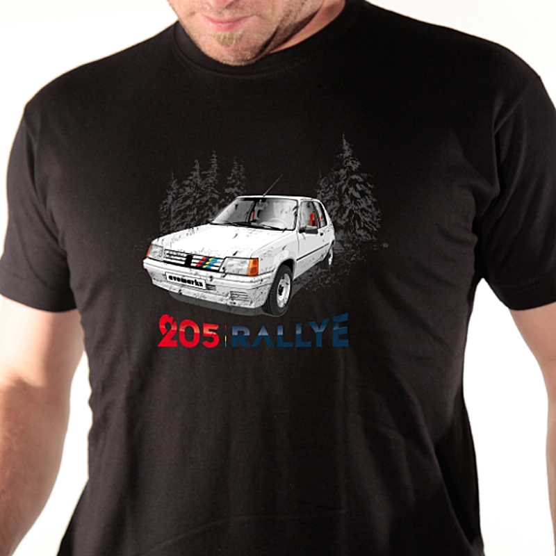 f0d9f3eb21b2 Tee-shirt auto - 205 Rallye - Avomarks