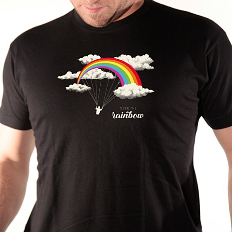 t-shirt-over-the-rainbow