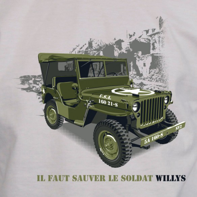tee-shirt-sauver-le-soldat-jeep-willys