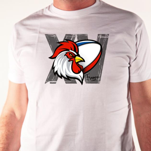 tshirt Coq France XV
