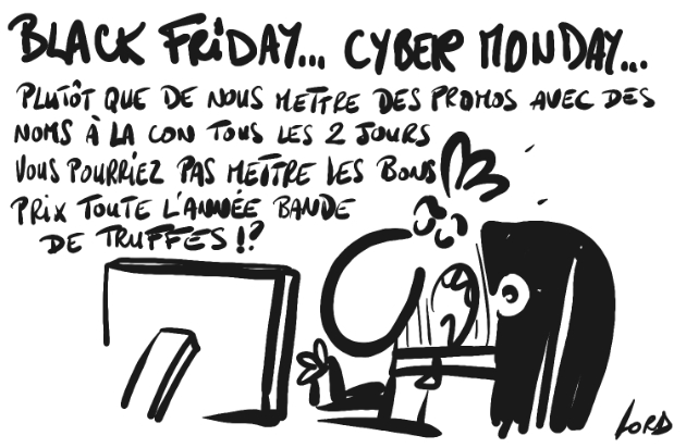 Dessin-humour-lord sinclair-black cyber monday2019