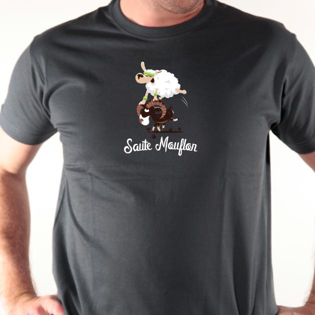t shirt Saute mouflon