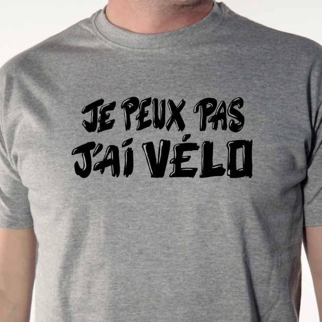 t-shirt-Je peux pas j'ai vélo