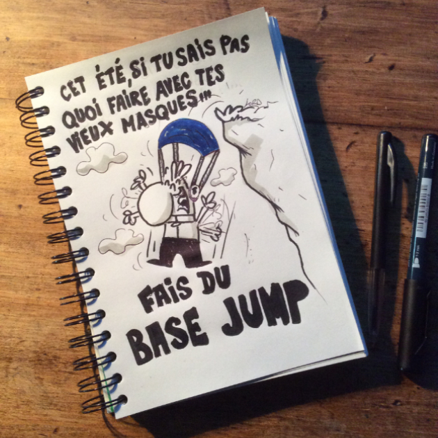 dessin humour lord base jump
