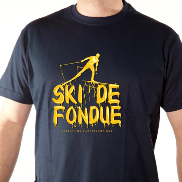 t-shirt ski de fondue