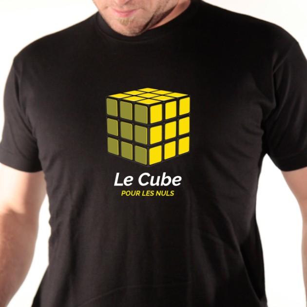 tshirt rubik cube pour les nuls