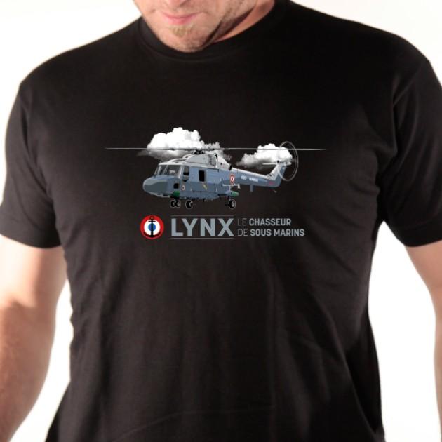 T shirt hélicoptère militaire - Lynx
