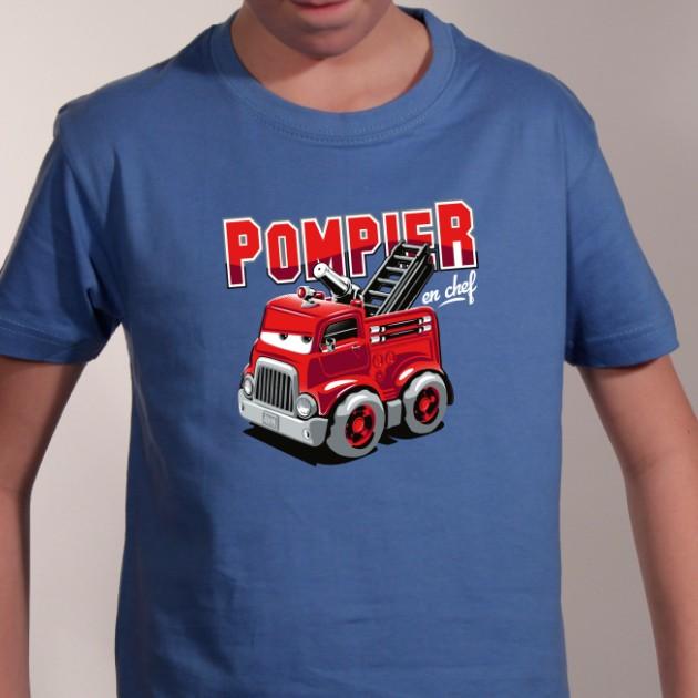 t-shirt - Pompier en chef